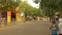 Walking on an alley in Prater, Vienna Stock Footage