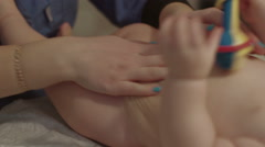 Baby getting massage. Stock Footage