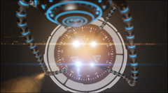 Futuristic robot dron with tentacles. Future concept. Stock Footage