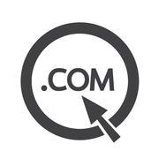Domain dot COM sign icon Illustration Stock Illustration