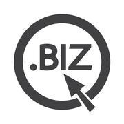 Domain dot biz sign icon Illustration Stock Illustration