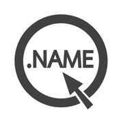 Domain dot name sign icon Illustration - stock illustration