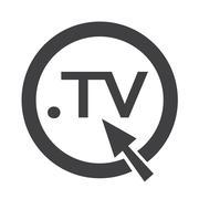 Domain dot TV sign icon Illustration Stock Illustration