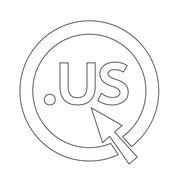 Domain dot US sign icon Illustration Stock Illustration