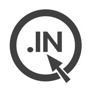 Domain dot in sign icon Illustration Stock Illustration