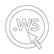 Domain dot ws sign icon Illustration - stock illustration