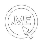 Domain dot me sign icon Illustration - stock illustration