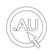 Australia Domain dot AU sign icon Illustration Stock Illustration
