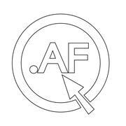 Afghanistan Domain dot AF sign icon Illustration - stock illustration