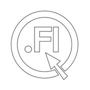 Finland Domain dot FI sign icon Illustration - stock illustration