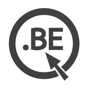 Belgium Domain dot BE sign icon Illustration Stock Illustration