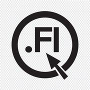 Finland Domain dot FI sign icon Illustration - stock illustration