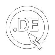 Germany Domain dot DE sign icon Illustration - stock illustration