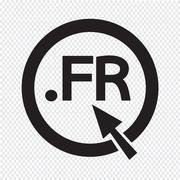 France Domain dot FR sign icon Illustration - stock illustration