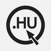 Hungary Domain dot HU sign icon Illustration Stock Illustration