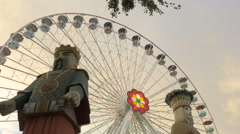 Blumenrad and Calafati in Prater, Vienna Stock Footage