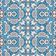 Ceramic tile - color kaleidoscopically generated background, seamless Stock Illustration