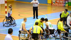 Game of Wheelchair Basketball - stock footage