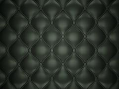 Black leather background with buttons Stock Illustration