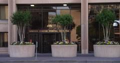 US Postal Service Headquarters on L'Enfant Plaza, Washington DC. Shot in 2012. Stock Footage