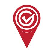 Map Pin Pointer Tick icon - stock illustration