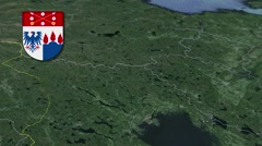 Orebro with Coat of arms animation map Stock Footage