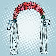 Wedding gate for the betrothal - stock illustration