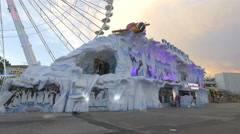 Ice cave in Prater, Vienna Stock Footage