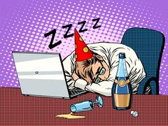 Hard birthday party Stock Illustration