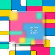 Stock Illustration of Multicolor Design Templates.