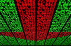 Stock Illustration of Stock Market Digital Board