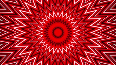 Abstract growing star in red,black and white Stock Footage