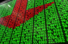 Stock Market Digital Board Stock Illustration