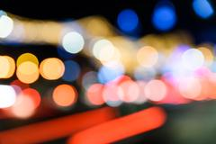 City Traffic Lights Background Stock Photos