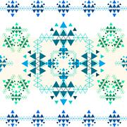 Colorful ethnic seamless pattern design. - stock illustration