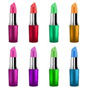 Lipstick different shades isolated on white background Stock Illustration