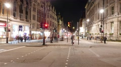 Whitehall street traffic London - time lapse shot - stock footage
