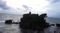 Tanah Lot Temple in Evening Stock Footage