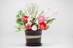 Japanese New Years' ornament - stock photo