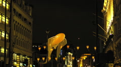 London, UK - January, 17: Lumiere Light Festival London, Luminéoles Stock Footage