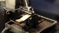 Electrical methods of marking of gold jewelry. Stock Footage