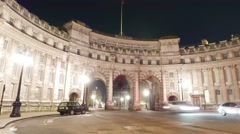 Admiralty Arch London - time lapse shot Stock Footage