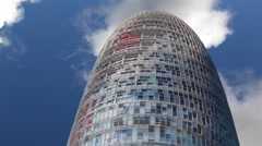 Torre Agbar In Barcelona Stock Footage
