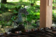 Shinto ablution pavilion - stock photo