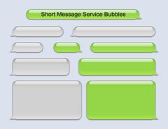 Short Message Service Bubbles Stock Illustration
