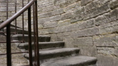 Upstairs - ancient way Stock Footage