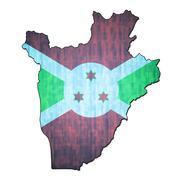 burundi territory with flag - stock illustration