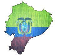 Stock Illustration of ecuador territory with flag