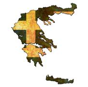 greece territory with flag - stock illustration
