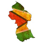 Stock Illustration of guyana territory with flag